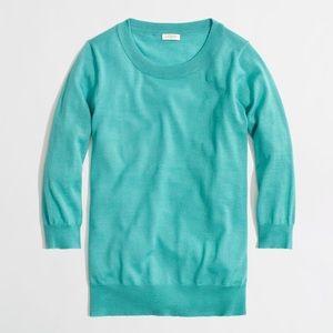 J. Crew Aqua Merino Wool Tippi Sweater